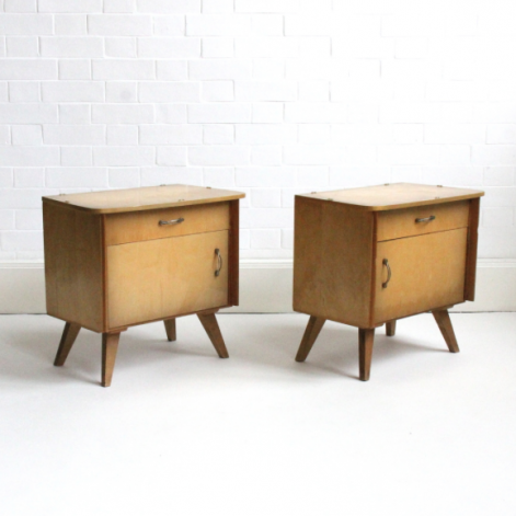 MID CENTURY FRENCH BEDSIDE TABLES